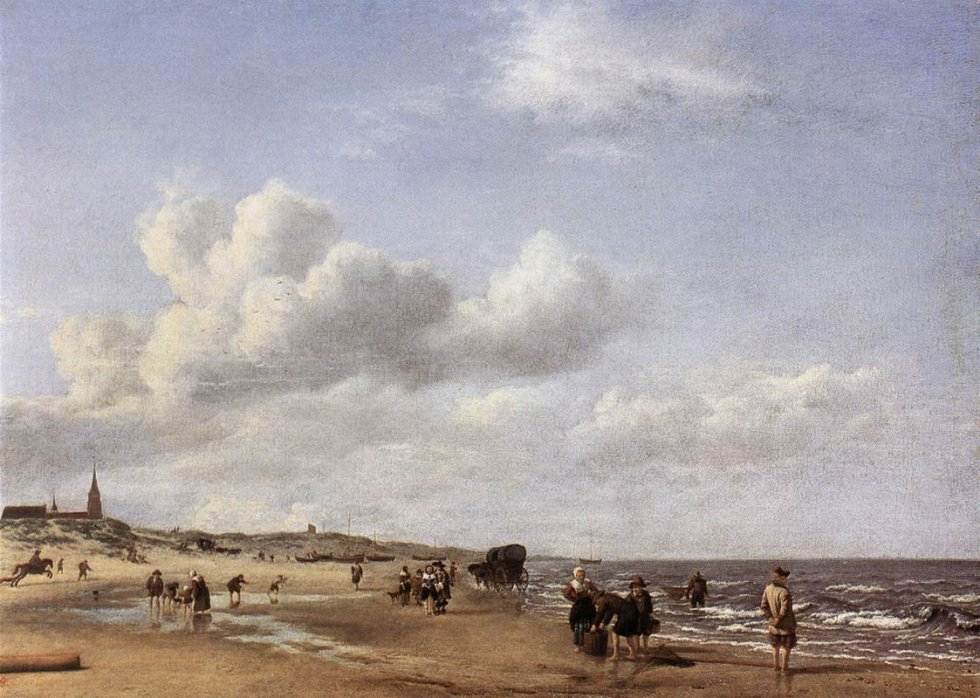 La platja de Scheveningen (1658) Adriaen van de Velde Museumslandschaft Hessen Kassel (MHK)