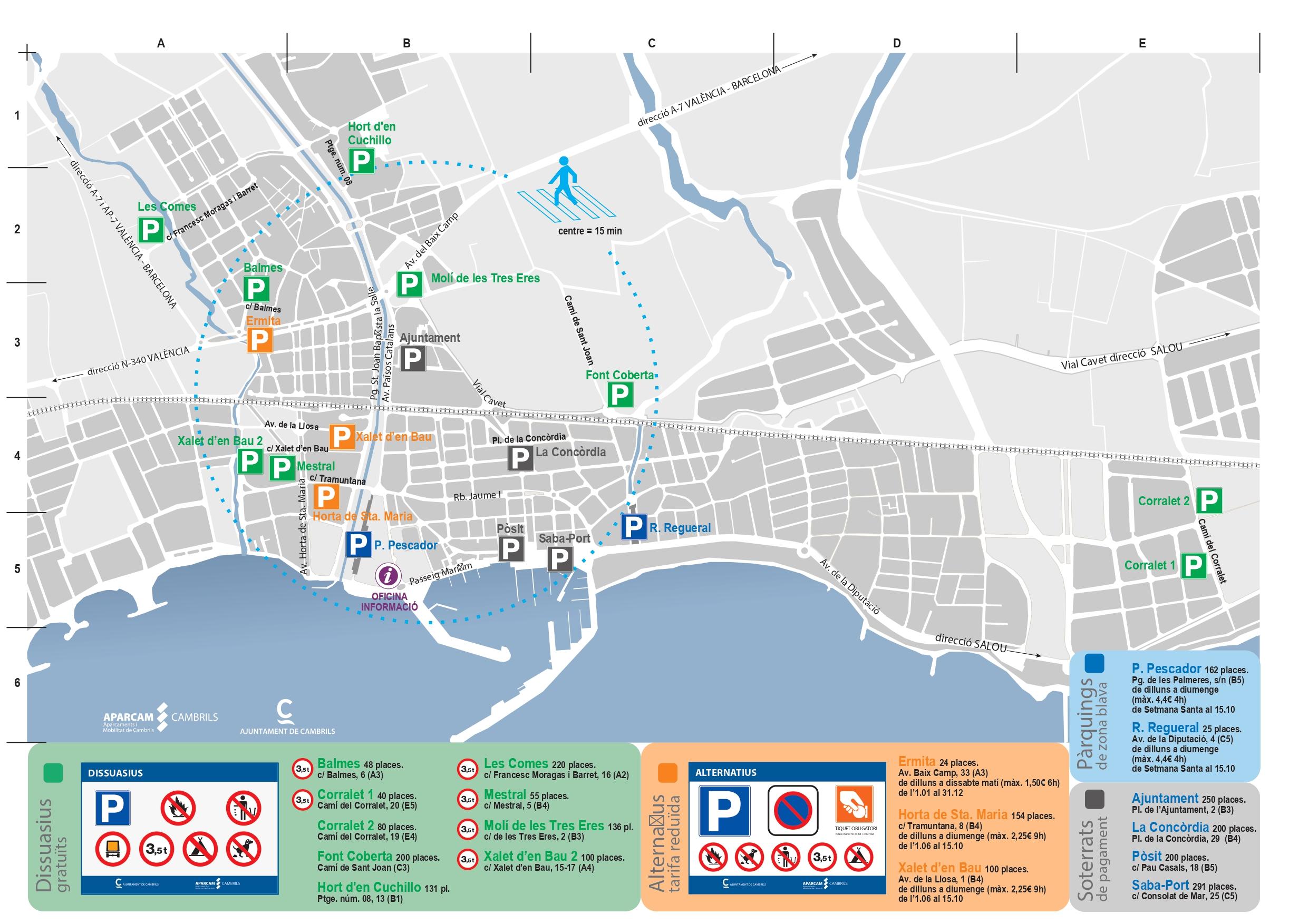 mapa alternatius dissuasoris Cambrils